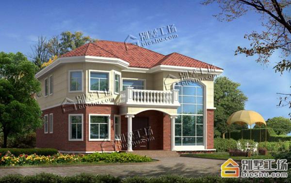 农村二层落地窗房子设计图,在家享美景不要太赞