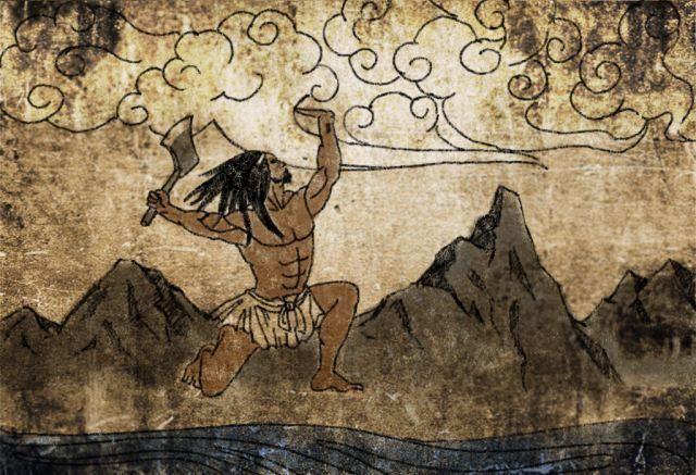 盘古,又称盘古氏、混沌氏,是中国传说中开天辟地创造世界的神.
