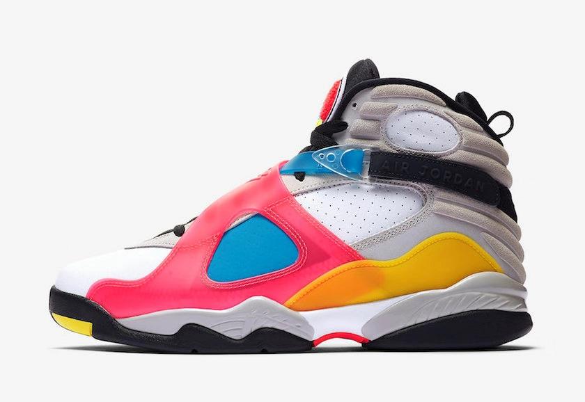 """官网预告来袭!Air Jordan 8""""Multi-Color""""明日登场!"""