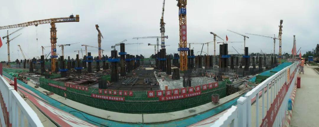 雄安站站房钢结构工程地下主体结构完工!这些智慧建造技术你一定想知道!