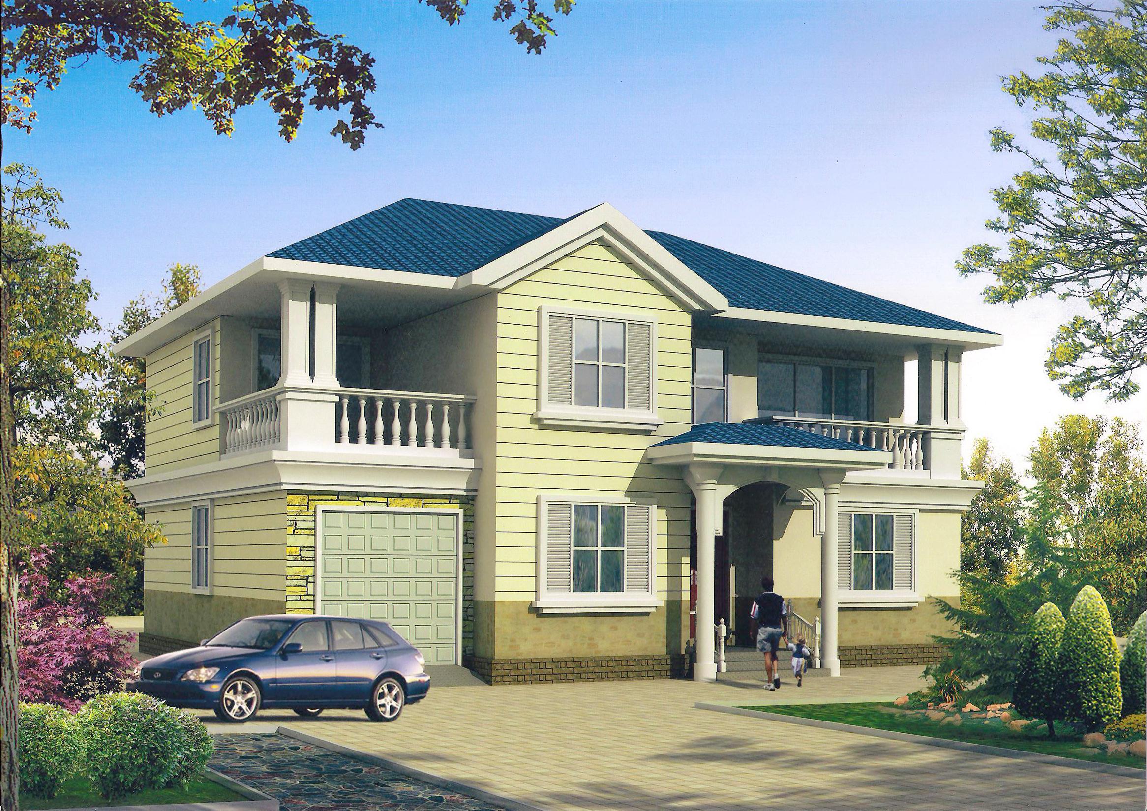 农村小别墅设计图自建房图纸w430