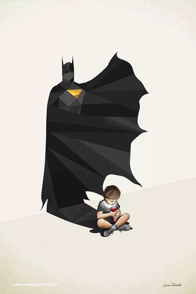 看了这些插画你是否还记得你儿时的英雄梦?