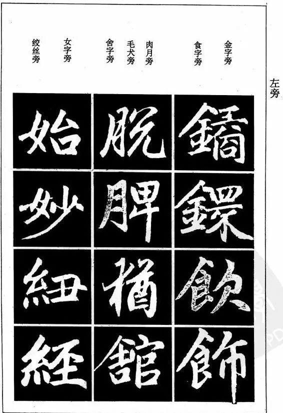 赵孟頫楷书笔画写法,值得收藏