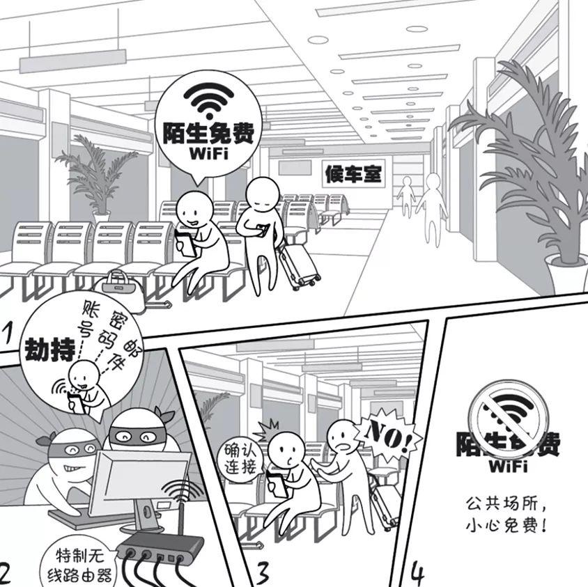 【网络安全宣传周】2019国家网络安全宣传周漫画——WiFi安全篇