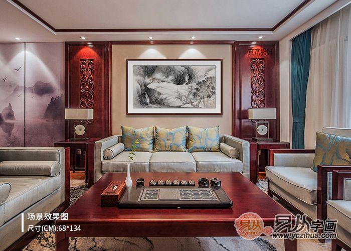 中式客厅配画指南 六要素需谨记!