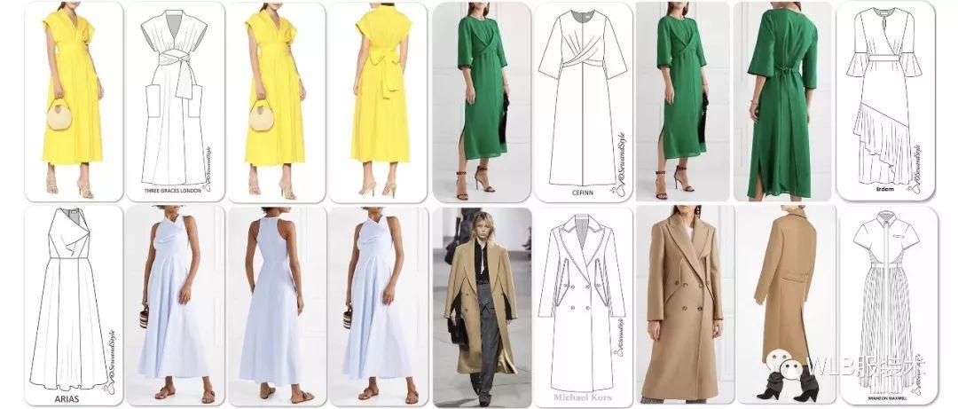 100+女装款式,你的款式图基础练习指南!