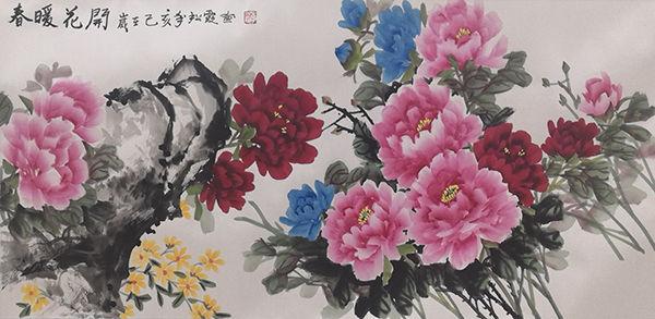 <b>一枝独秀,女中绘画奇才——中国女画家李松霞作品欣赏</b>