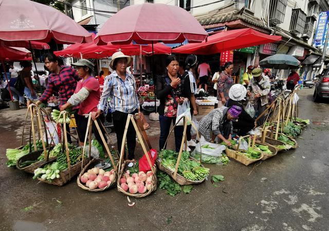 感动墨江街头卖菜老妈妈,养儿育女种菜卖菜持家,她们一生不闲啊