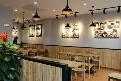 用黑白灰打造一家餐饮店,没有粉红色也可以很好看