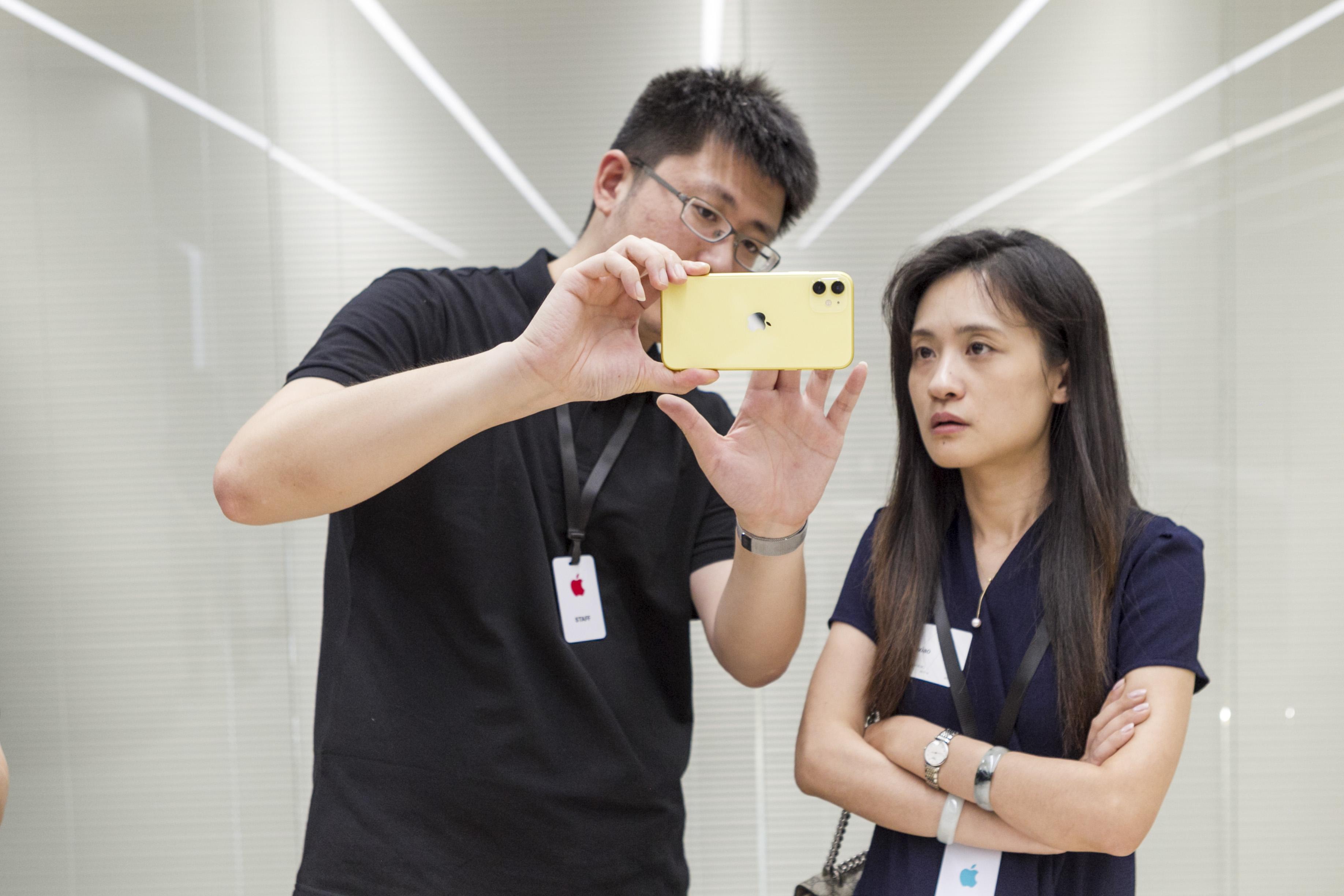 苹果公司在上海进行新品上市前路演