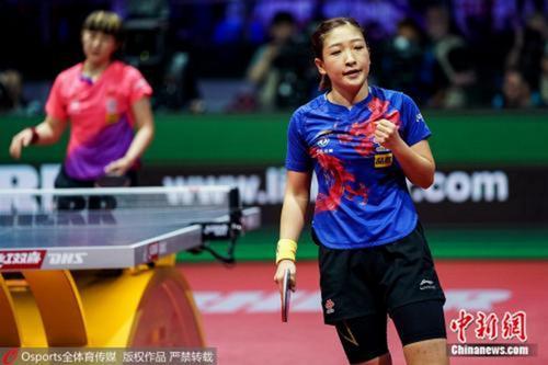 亚锦赛中国女乒横扫日本 豪取七连冠锁定奥运入场券