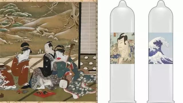 把国宝浮世绘印在避孕套上!这很日本!