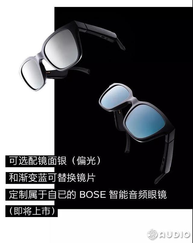 BOSE推出智能音频眼镜,内置通话麦克风,极速蓝牙配对
