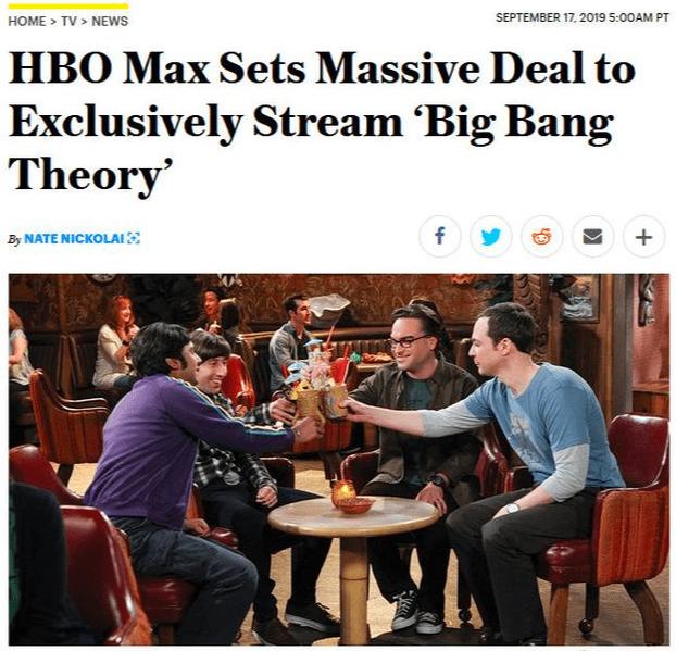HBO Max买下《生活大爆炸》独家流媒体版权,将于2020年春季开播