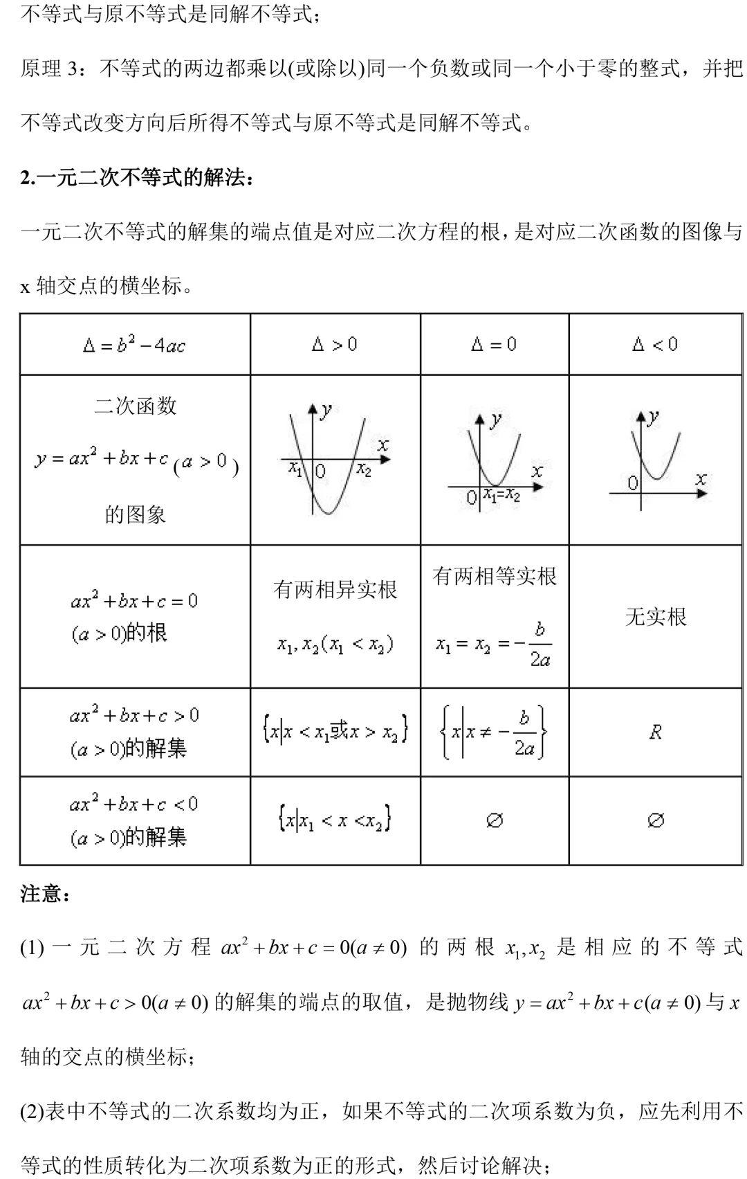 高二数学必修5知识点总结