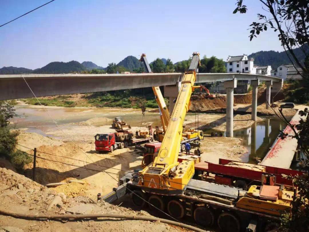 黄山月潭水库金城桥主体工程顺利完工 预计10月份可建成通行