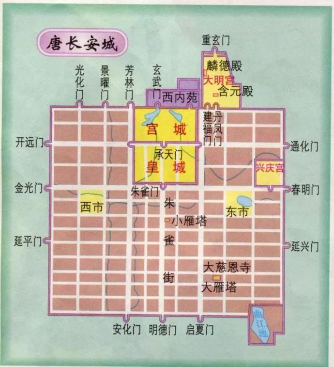 唐长安城平面图