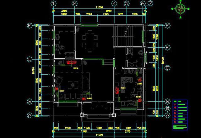 1,建筑平面图 五,图纸设计 别墅的设计,需要用到cad制图,如今也越来