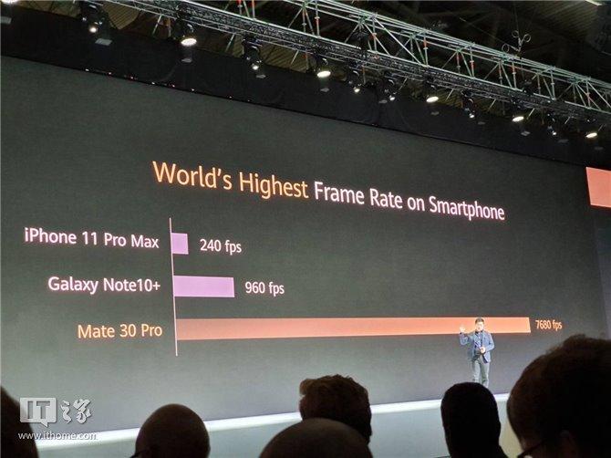 华为Mate 30 Pro超高速摄影功能公布:每秒7680帧!