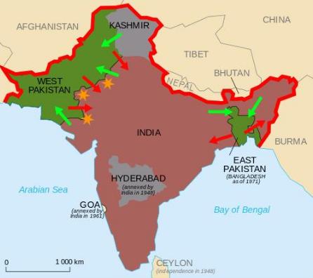 印巴关键时刻,大国7艘军舰路过印度洋,印度表态:这不是57年前