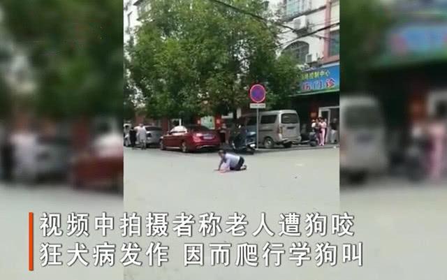 老人被狗咬伤疑似狂犬病发作,当街碰瓷路人要钱,扬言要传染别人