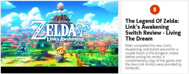 大师级经典重制《塞尔达传说:织梦岛》IGN9.4分高评