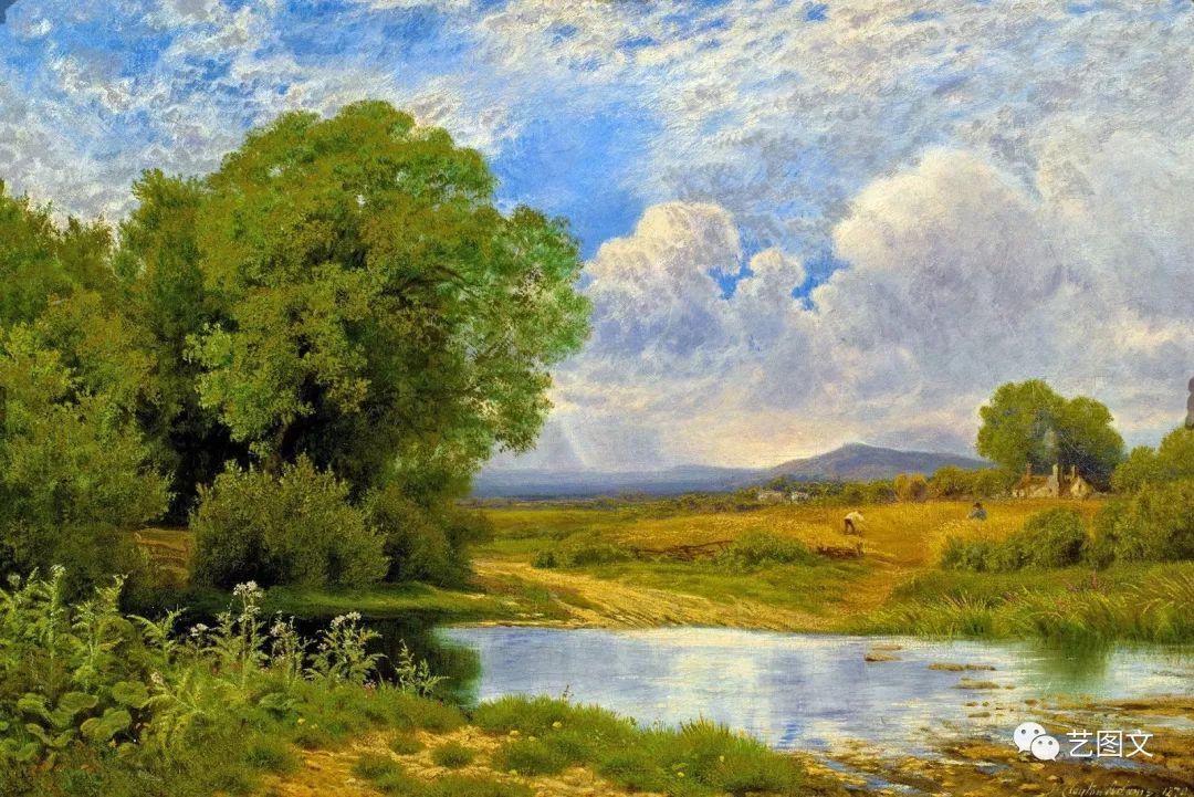 英国画家john clayton adams 风景油画