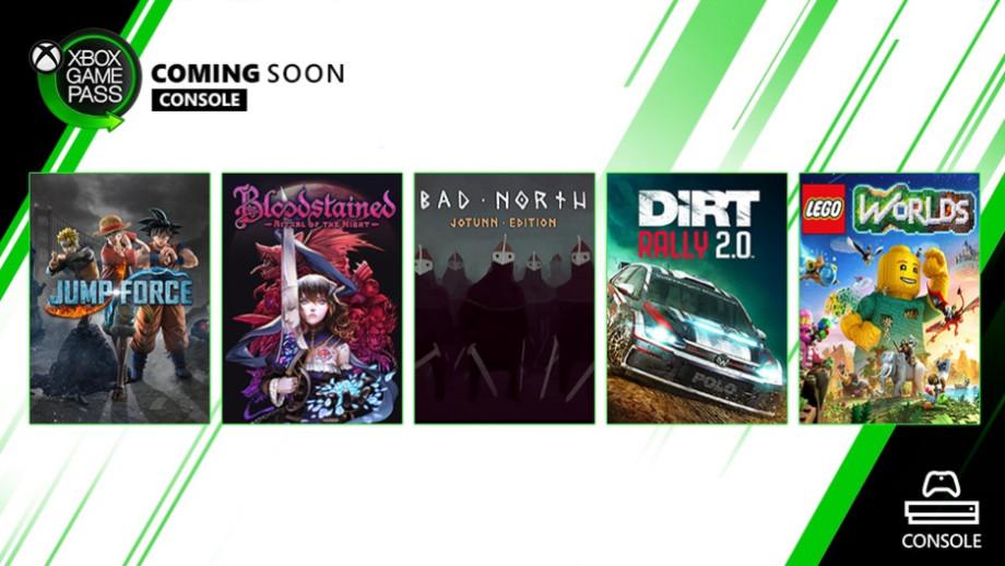 微软XGP新增游戏:《赤痕:夜之仪式》《JumpForce》等