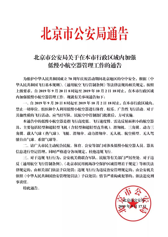 注意!北京发布禁令!即日起至国