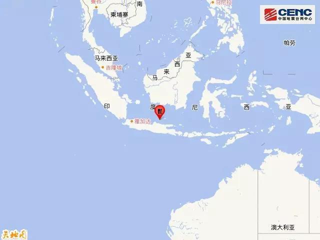 印尼爪哇岛发生5.9级地震 震源深度610千米