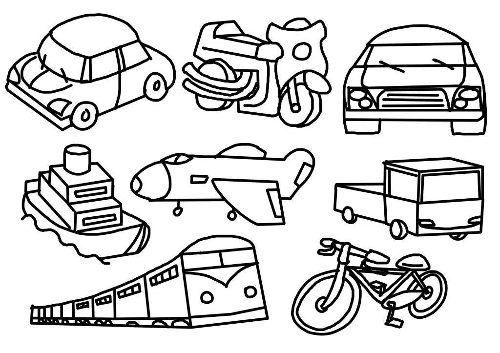 交通工具简笔画图片欣赏