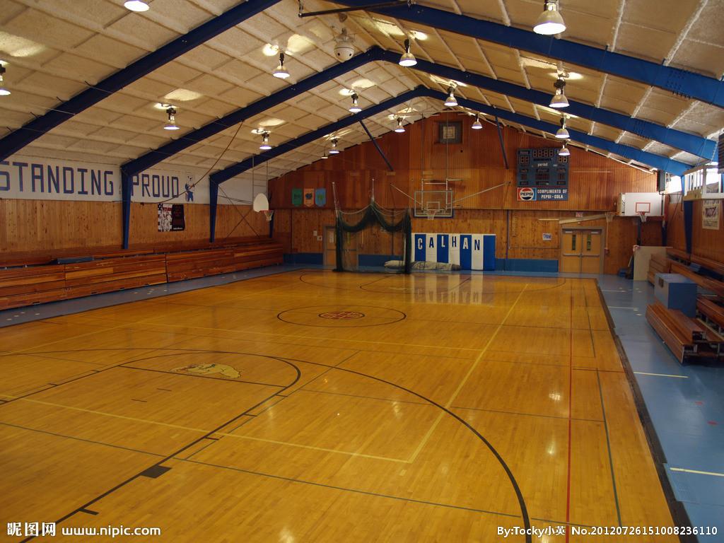 篮球馆的木地板怎么安装的