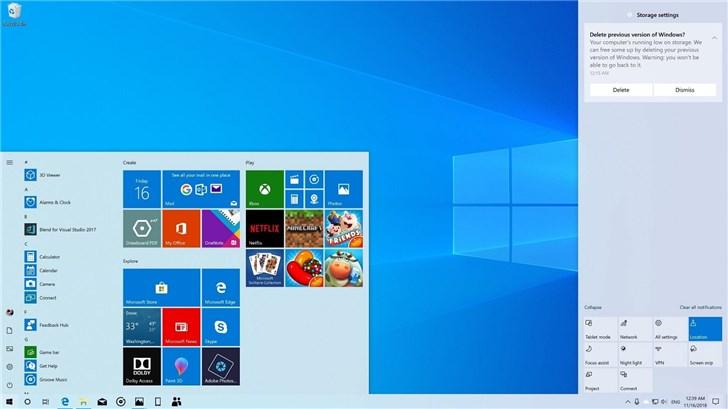 微软Windows 10版本1903面向更多设备推送