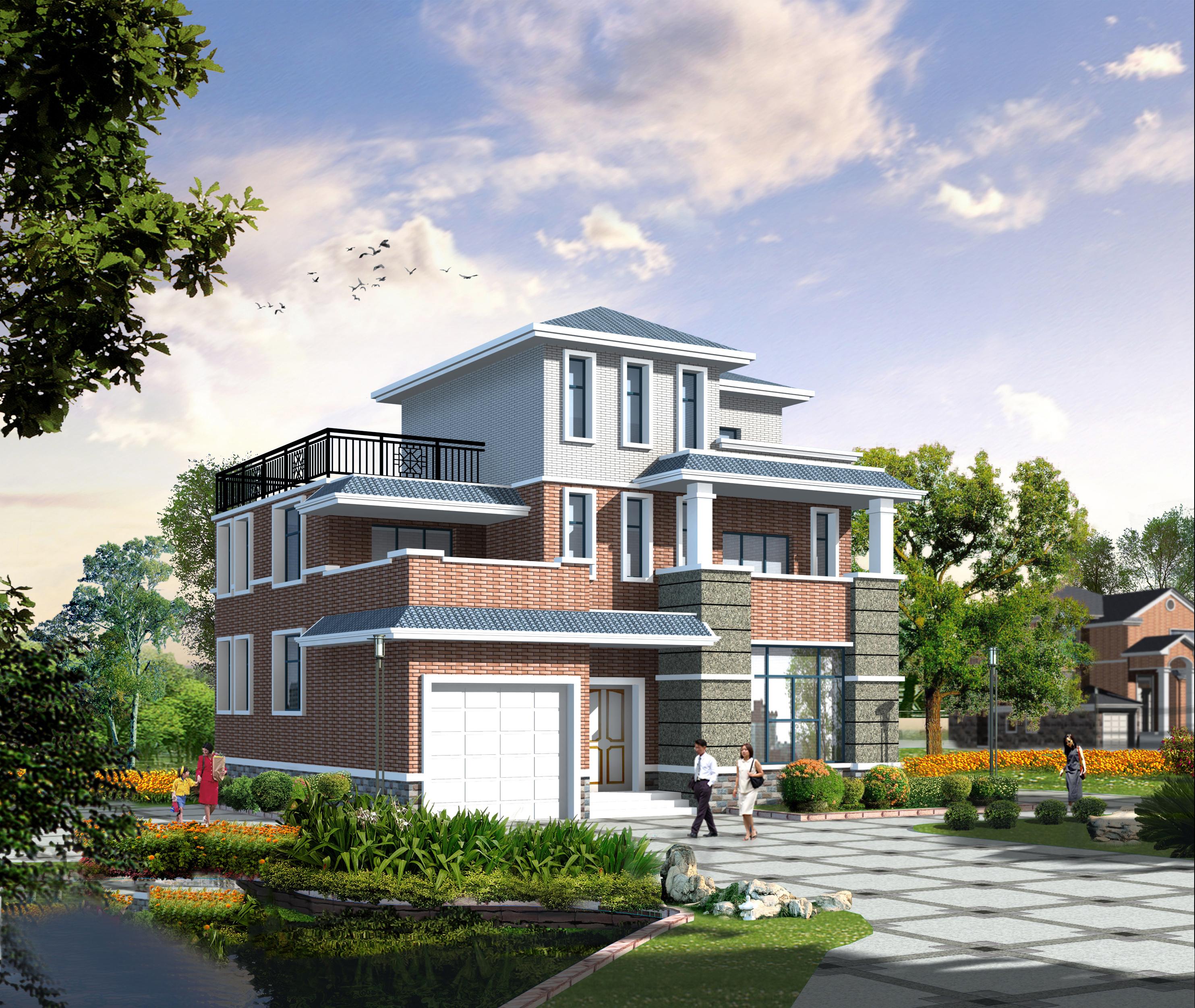 最新农村房屋设计图片