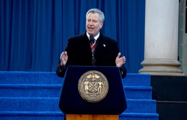 不选了!纽约市长白思豪宣布退出2020美国大选