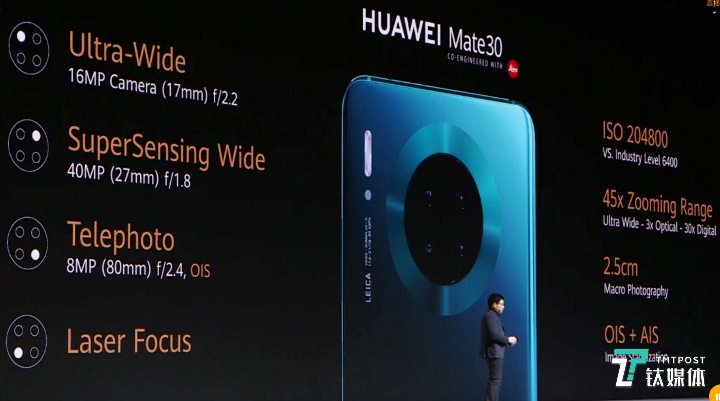 """""""浴霸""""变""""花洒"""",华为Mate30系列手机正式发布!"""