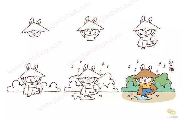 最美的二十四节气简笔画,中国孩子应该知道