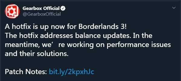 《无主之地3》热修补丁已上线平衡性调整,BUG修复