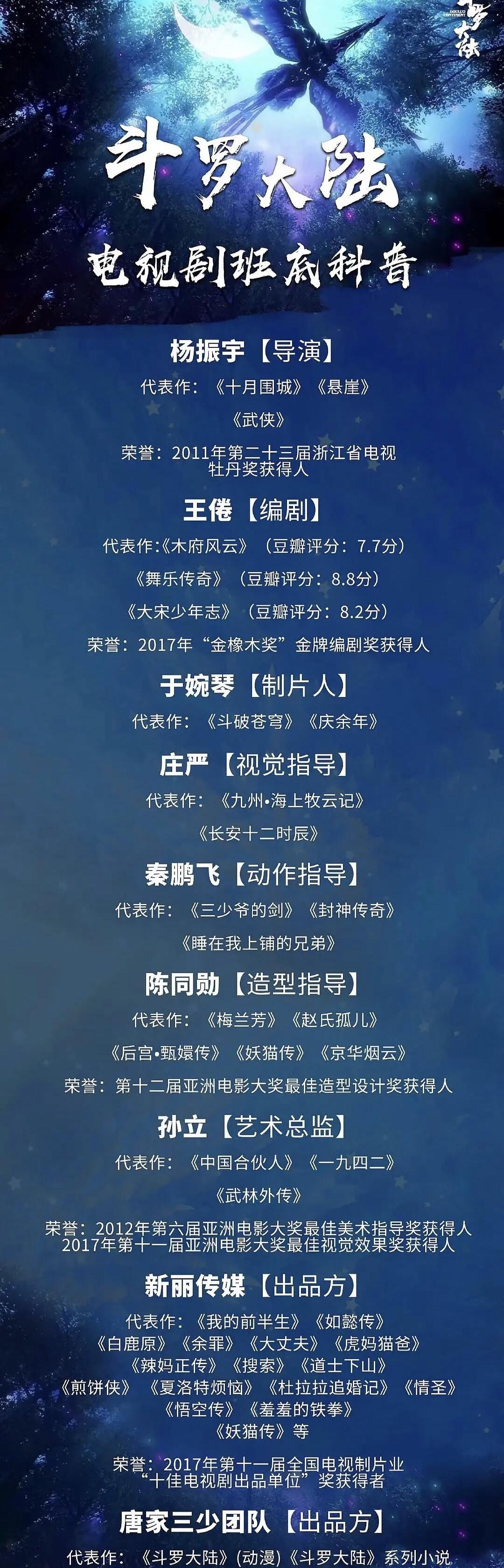 《斗罗大陆》制作团队实力雄厚,爱豆能hold住这部剧吗?