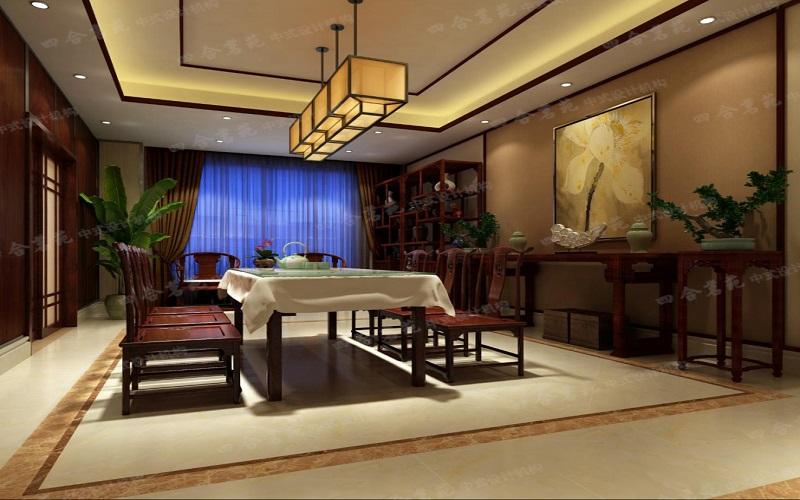 現代中式家裝設計 簡潔單純之中糅合少量的沉著氣度