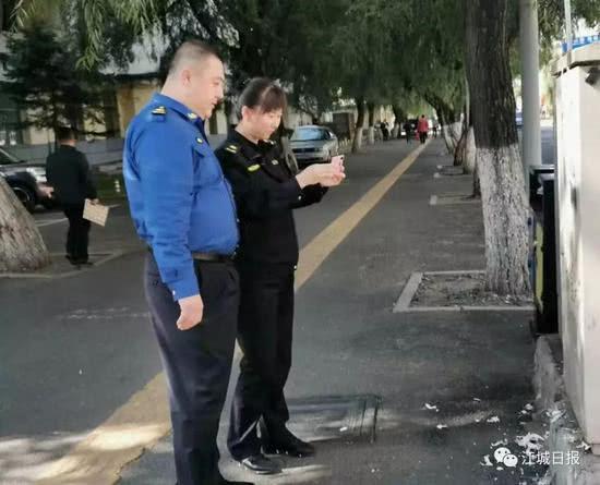 治理野广告!吉林市公安、城管开展综合执法联合行动