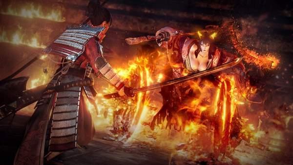 《仁王2》新截图织田信长守护灵曝光,本能寺烈焰焚天