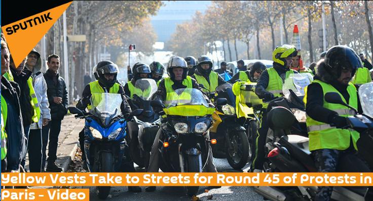"""又有30名""""黄背心""""示威者被捕法国巴黎出动7500名警察"""