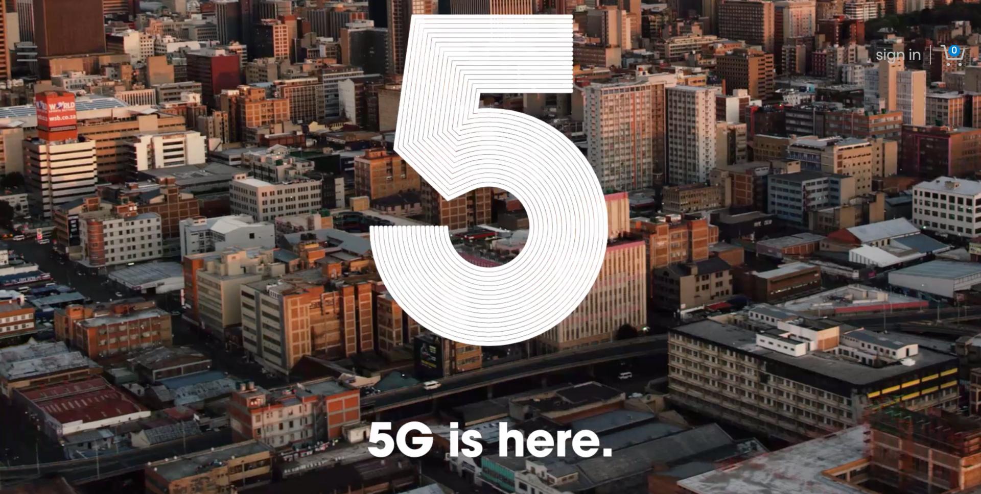 南非移动数据网络运营商rain在南非推出商用5G网络