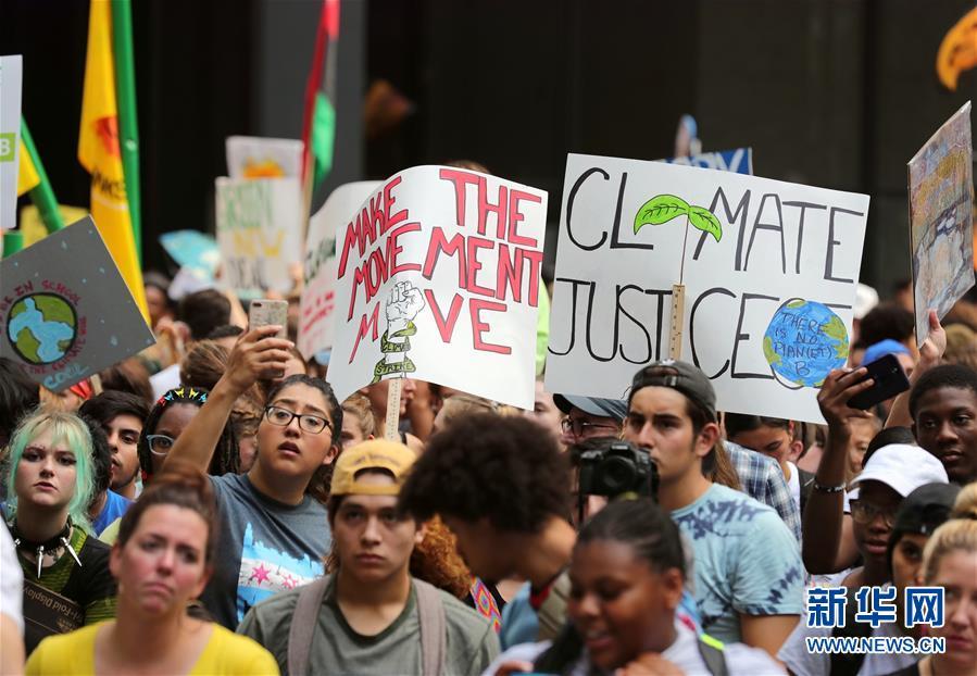 美国芝加哥举行气候变化游行