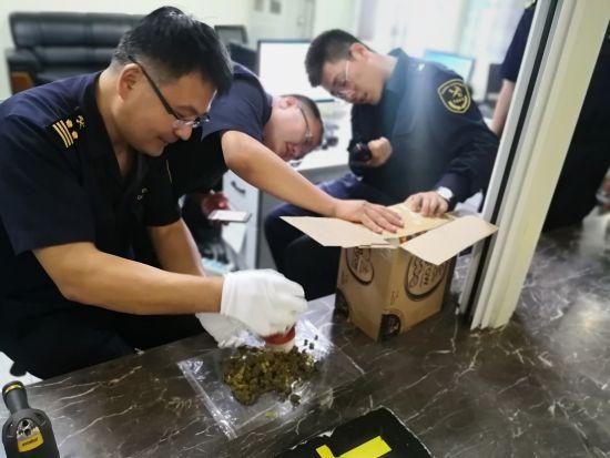 呼和浩特海关查获多起保健品夹藏大麻走私案 均来自加拿大