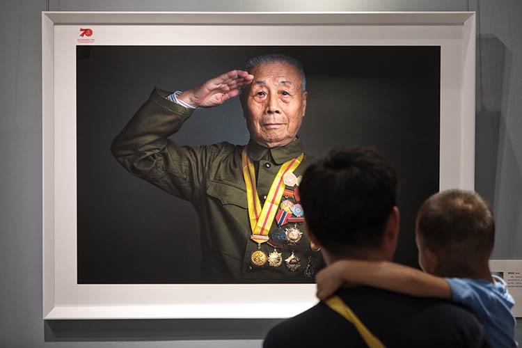 致敬老兵西城老战士肖像摄影展开幕