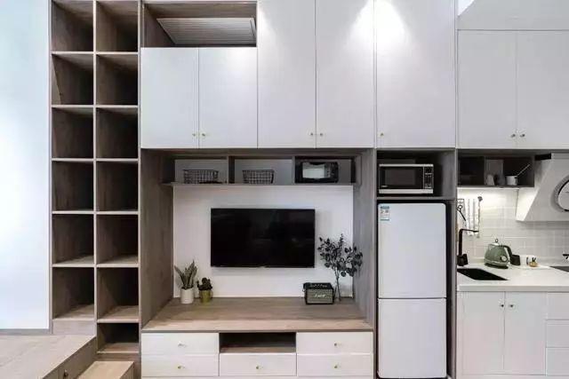 35平小户型单身公寓,储物量强,卧室榻榻米地台床实用