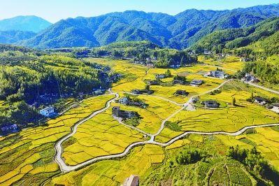 空中俯瞰泉州德化:美丽新农村画卷徐徐展开