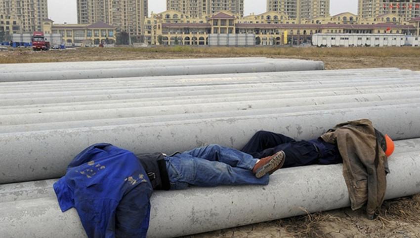 一组感人的睡姿:累了困了随处都能睡着